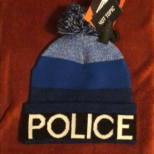 Hot Topic Accessories - TARDIS Blue Police Box Knit Pom Beanie Hat 48b203215a2
